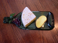 Colored Glass Cheese Tray
