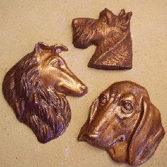 Dog Faces Plaques or Paperweights